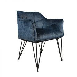 Stuhl Hooper Velvet | Blau