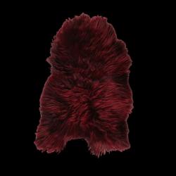 Isländischer Schaf-Teppich | Burgunderrot