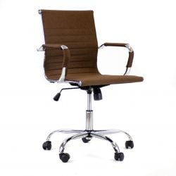 Bürostuhl Manhattan Low H-fabric | Braun