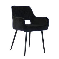 Stuhl Mona Velvet | Schwarz