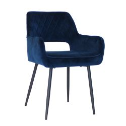 Chair Mona Velvet | Dark Blue