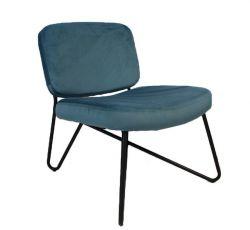 Stuhl Nibley Velvet | Blau