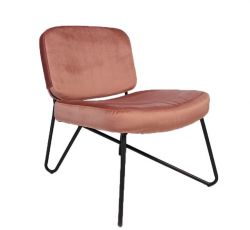 Chair Nibley Velvet | Rose