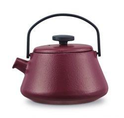 Gusseisen Teekanne T-time   Aubergine Rot