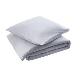 Bragi Duvet + Square Pillow Cases | Narrow Blue Stripe