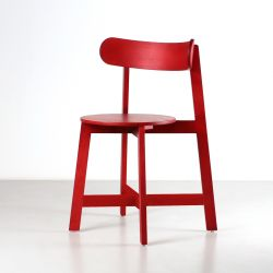 Chair Roda | Red Stained Ash Wood