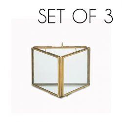 Danta Dreifachrahmen 3er-Set | Antikes Messing