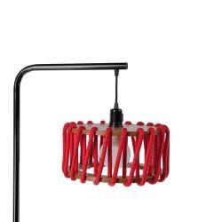 Stehleuchte Macaron Schwarz 30 cm | Rot