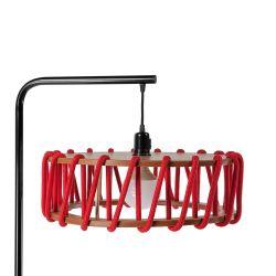 Stehleuchte Macaron Schwarz 45 cm | Rot