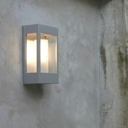 Brick Outdoor Wall Lamp White