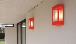 Brick Outdoor Wall Lamp Red