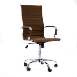 Bürostuhl Manhattan High H-fabric | Braun