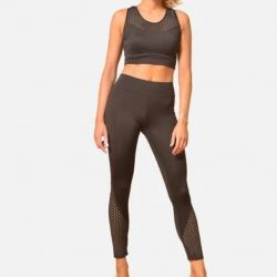 Set van Legging en Top 7070 7075 | Zwart