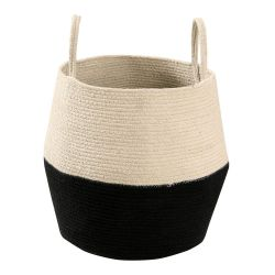 Basket Zoco | Black & Natural