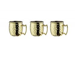 Tasse Cocktail Moscou 60 ml Set de 3 | Or