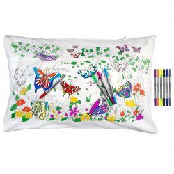 Taie d'Oreiller Papillon 75 x 50 cm