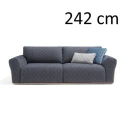Sleeping Sofa Bubble Diamond L 242 cm | Blue