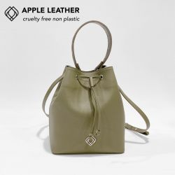 Bucketbag - Apple Leather Stitches | Olive Green