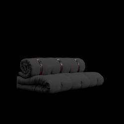 Canapé Buckle Up | Gris Foncé avec Ceinture Brun