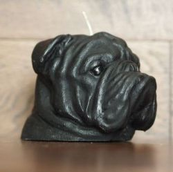 Candle Bulldog Black | Vanilla & Caramel