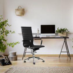 Bürostuhl Brisbane | Leder | Schwarz