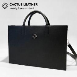 Geschäftstasche - Kaktusleder | Schwarz