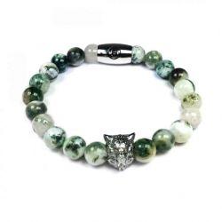 B' Wolf Bracelet | Green