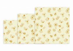 Wiederverwendbares Lunchpaket mit 3 Stück | Wabe (Honeycomb)