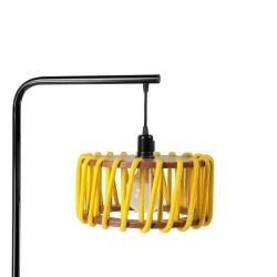 Stehleuchte Macaron 30 cm | Schwarz / Gelb