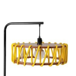Lampadaire Macaron 45 cm | Noir / Jaune