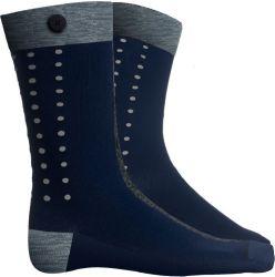 Männer Socken Dograce | Verdrehtes Blau