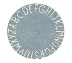 Washable Rug Round | ABC | Vintage Blue & Natural