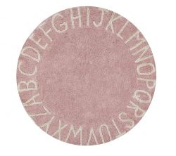 Washable Rug | ABC | Pink & Natural