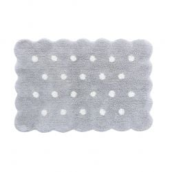 Washable rug Mini Biscuit Pearl Grey