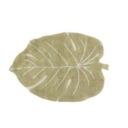 Washable rug Mini Monstera Olive