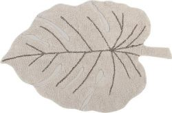 Tapis Lavable | Monstera | Naturel