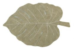 Washable Rug | Monstera | Olive Green