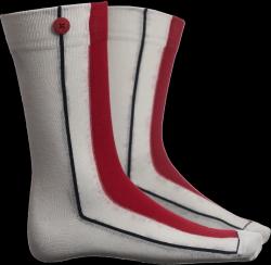 Männer Socken Cap | Weiß & Rot