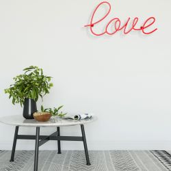 Wall Coat Rack Love | Red