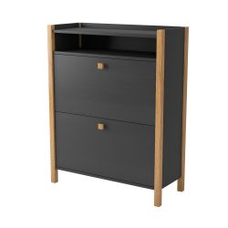 Bode Shoe Cabinet 2 Door | Grey & Birch