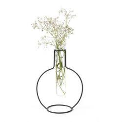 Vase Runde Silhouette 15 cm | Schwarz