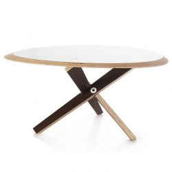 C Coffee Table | White/Ochre