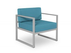 Armchair Nicea | Grey Frame & Blue