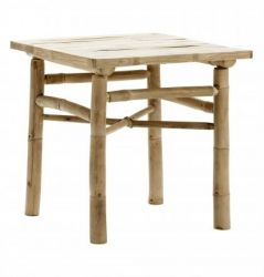 Table Carrée en Bambou | Small