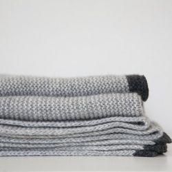 Plaid Cadaques | Grau / Schwarz