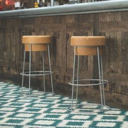 Bar Stool Giant Champagne Cork | Silver Wire