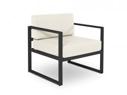 Armchair Nicea | Dark Grey Frame & Beige