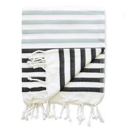 Hammam-Handtuch Sheker | Schwarz & Grau