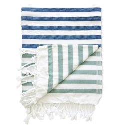 Hammam Towel Sheker | Blue & Green
