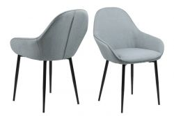 Chair Fabrice Set of 2 | Grey
